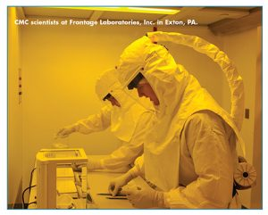 CMC scientists at Frontage Laboratories, Inc. in Exton, PA.