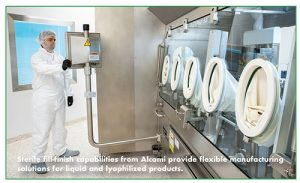 Sterile fill-finish capabilities from Alcami provide flexible manufacturing solutions for liquid and lyophilized products.