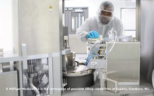 A Höfliger ModuleC LS is the centerpiece of precision filling capabilities at Experic, Cranbury, NJ.