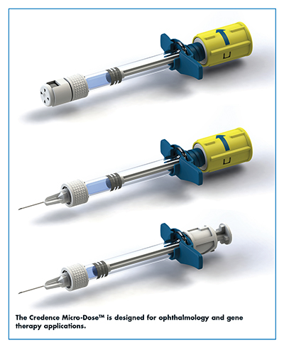The Credence Micro-DoseTM is designed for ophthalmology and gene therapy applications.