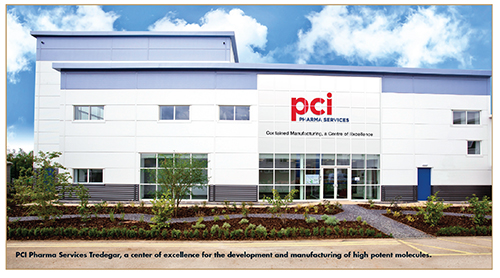 PCI Pharma Services Tredegar, a center of excellence for the development and manufacturing of high potent molecules.