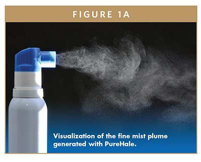 Visualization of the fine mist plume generated with PureHale.